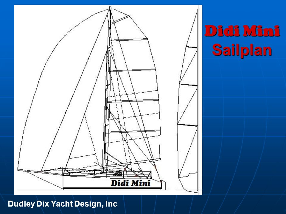 Didi Mini Sailplan Dudley Dix Yacht Design, Inc