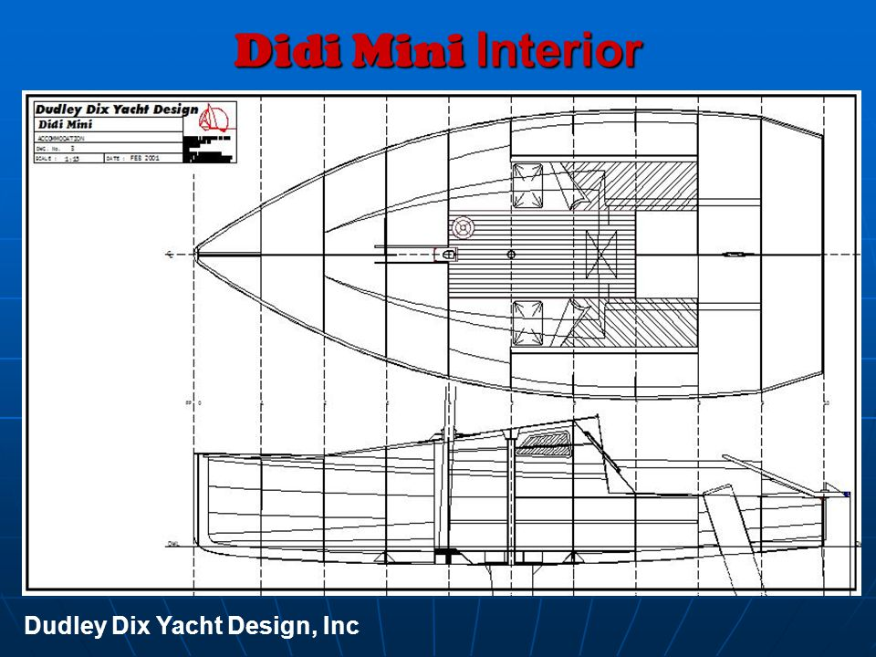 Didi Mini Interior Dudley Dix Yacht Design, Inc