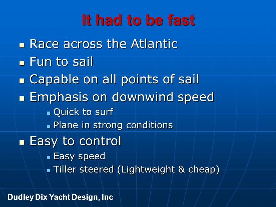 It had to be fast Race across the Atlantic Fun to sail