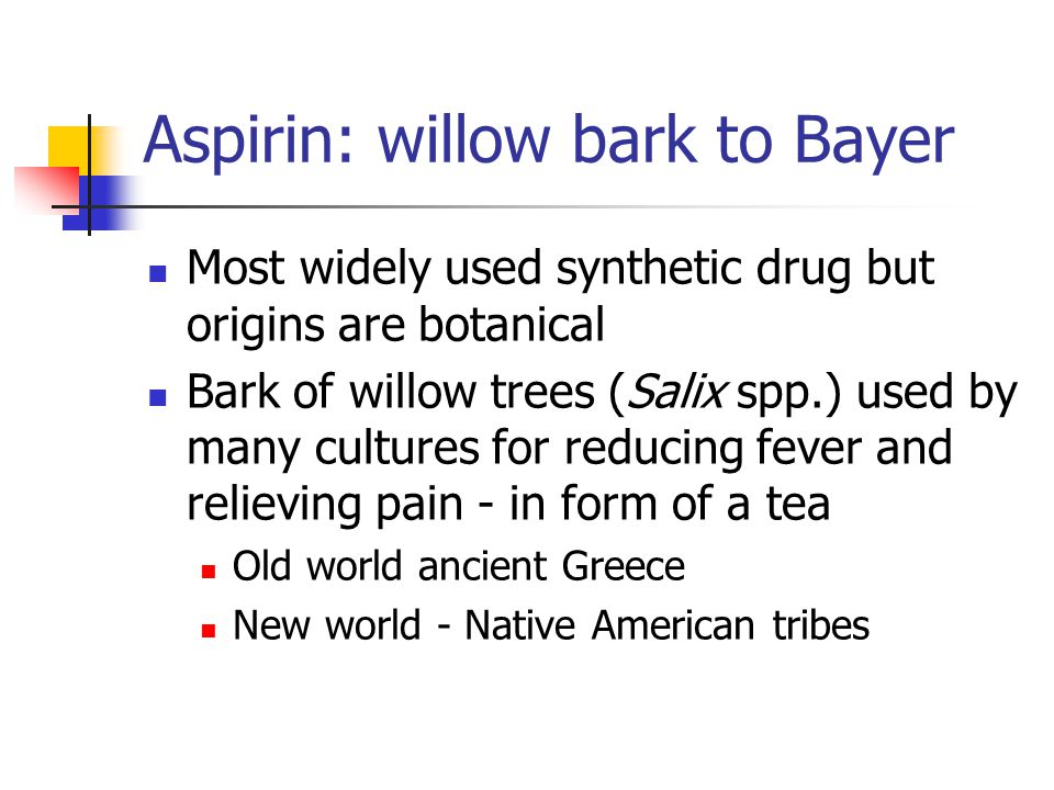 Aspirin: willow bark to Bayer