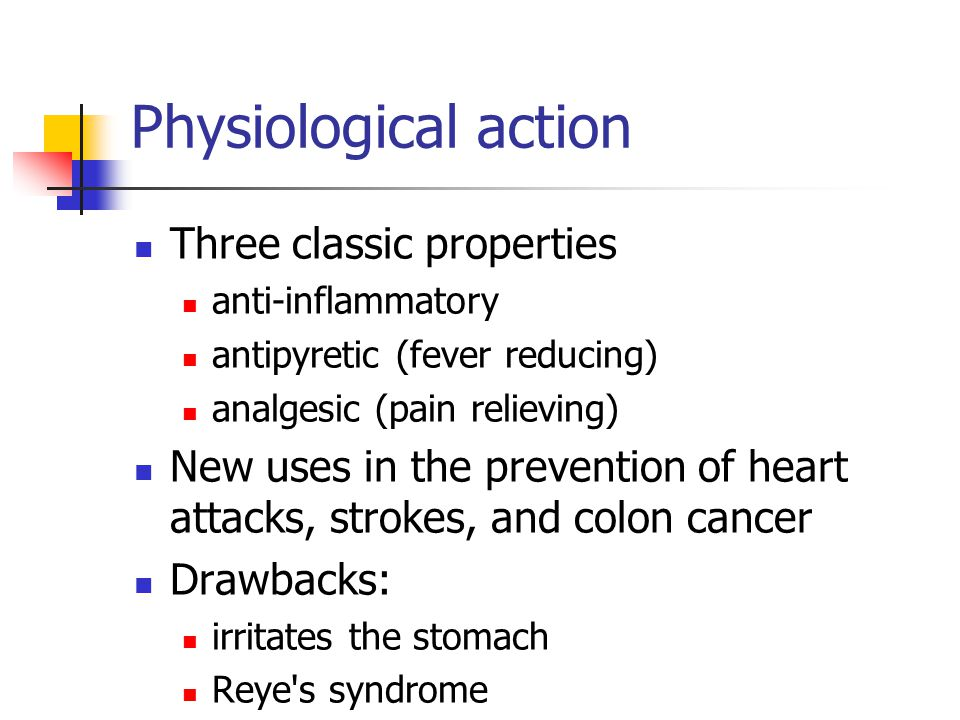 Physiological action Three classic properties
