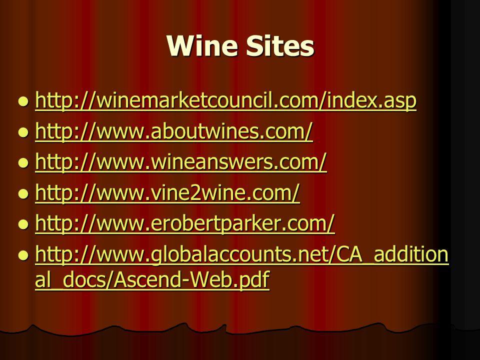 Wine Sites http://winemarketcouncil.com/index.asp