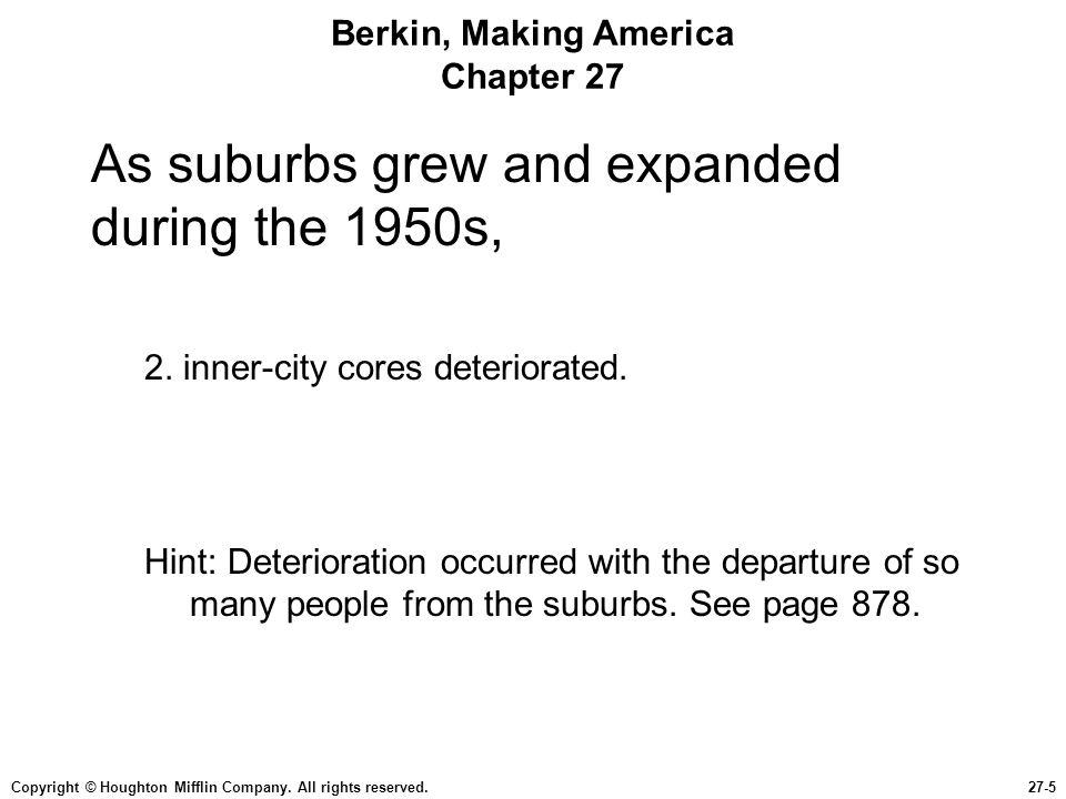 Berkin, Making America Chapter 27