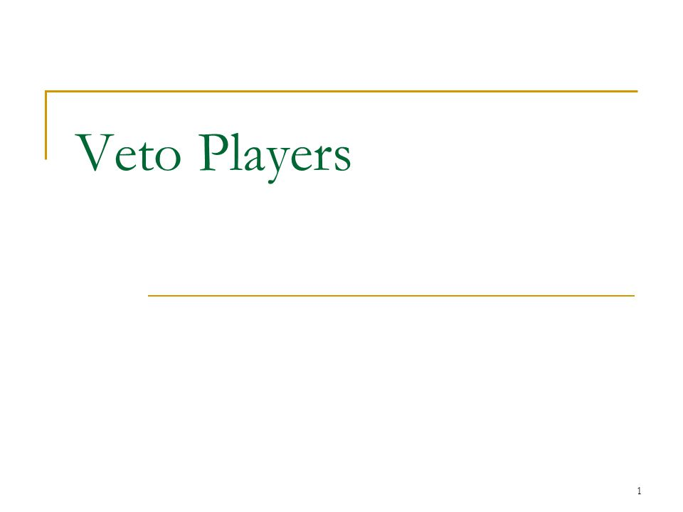Veto Players