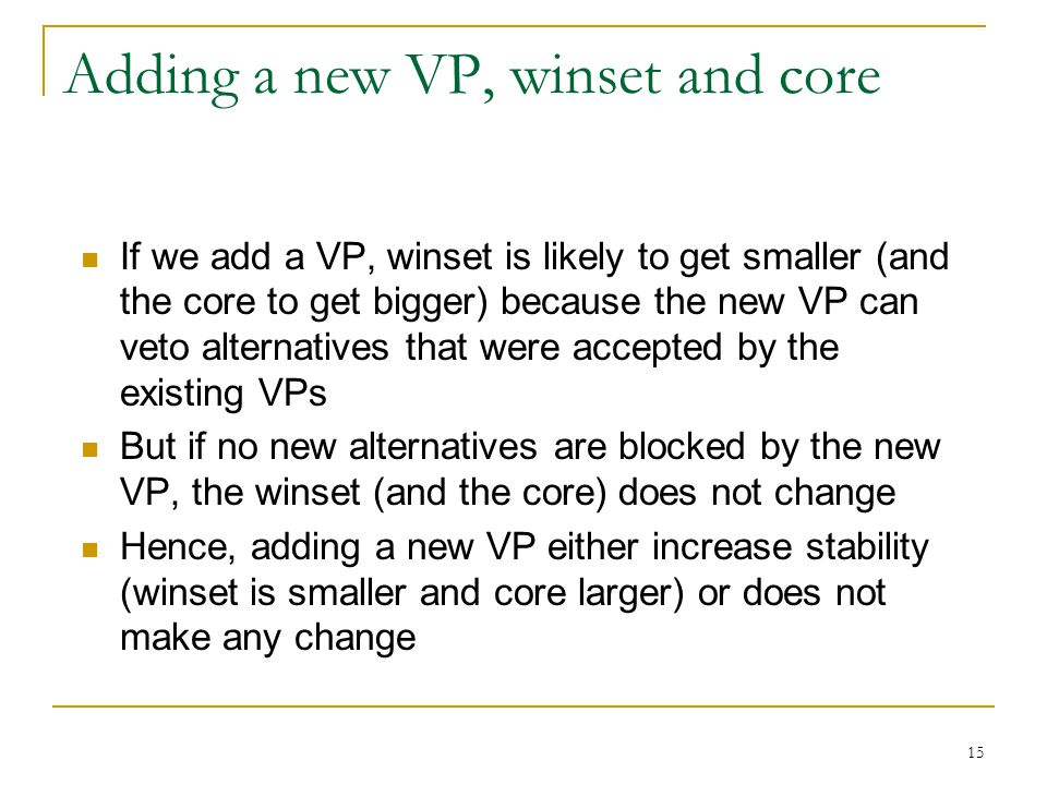 Adding a new VP, winset and core