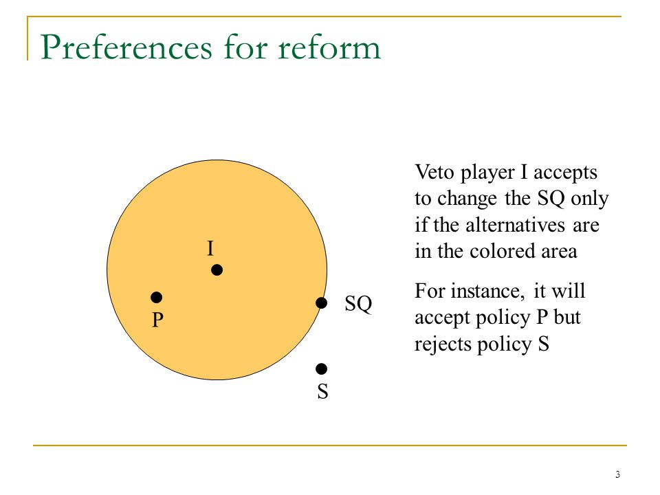 Preferences for reform