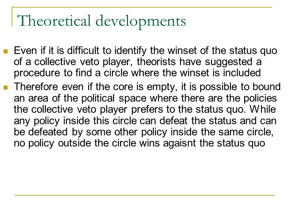 Theoretical developments