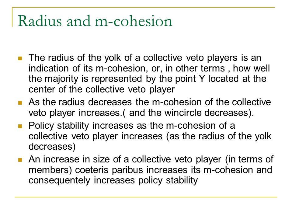 Radius and m-cohesion