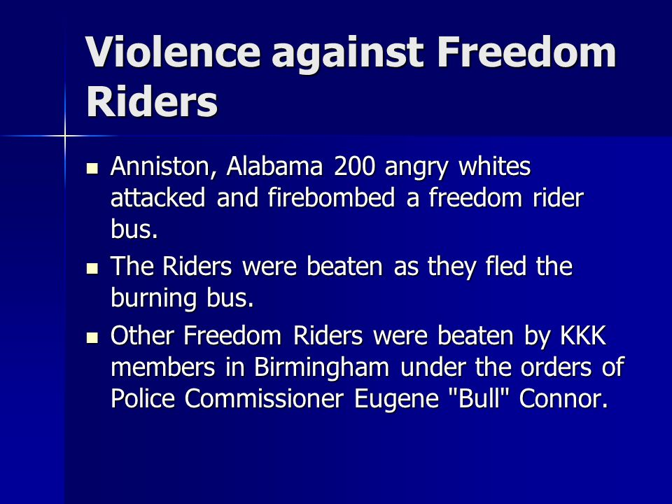 Violence against Freedom Riders