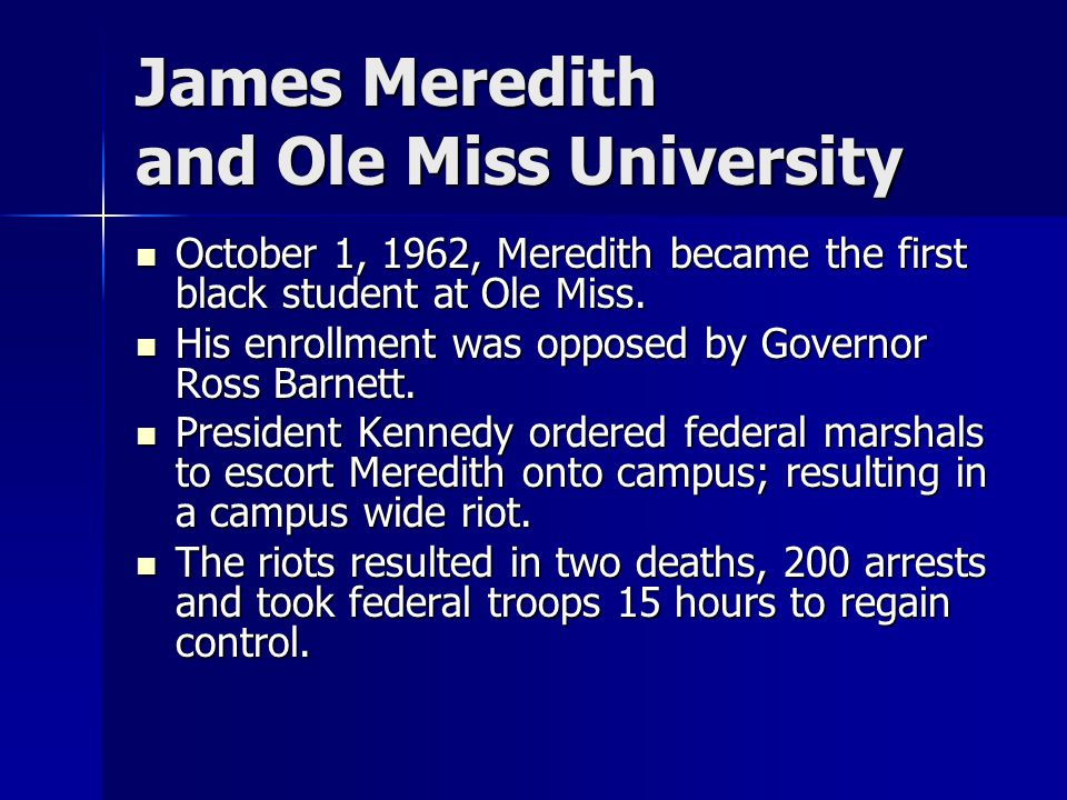 James Meredith and Ole Miss University