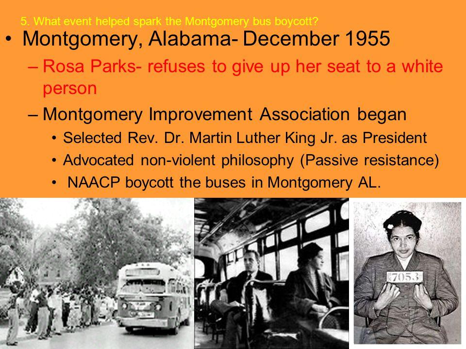 Montgomery, Alabama- December 1955