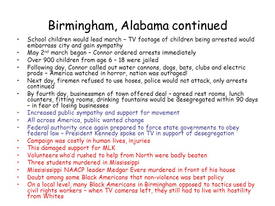 Birmingham, Alabama continued