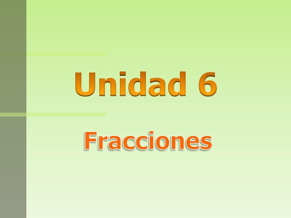 Unidad 6 Fracciones