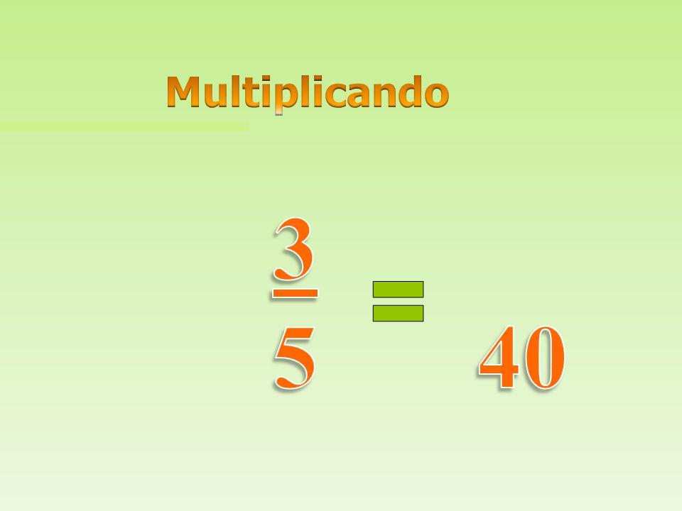 Multiplicando 3 5 40