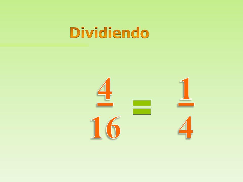 Dividiendo 4 16 1 4