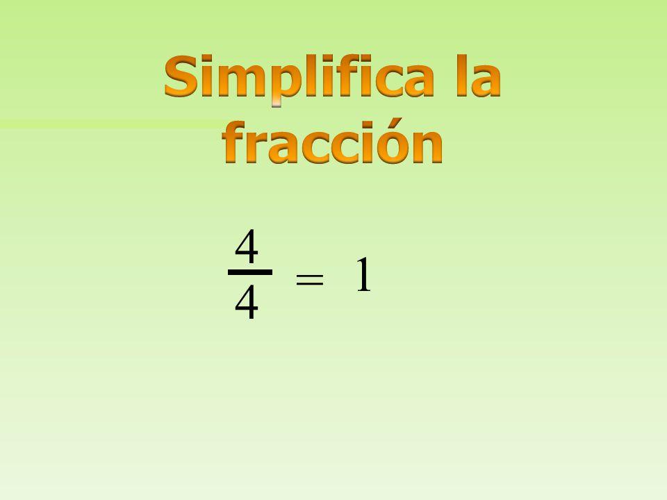 Simplifica la fracción
