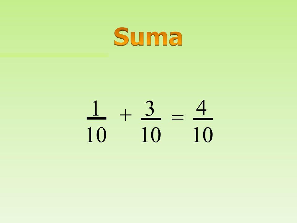 Suma 1 3 4 + = 10 10 10
