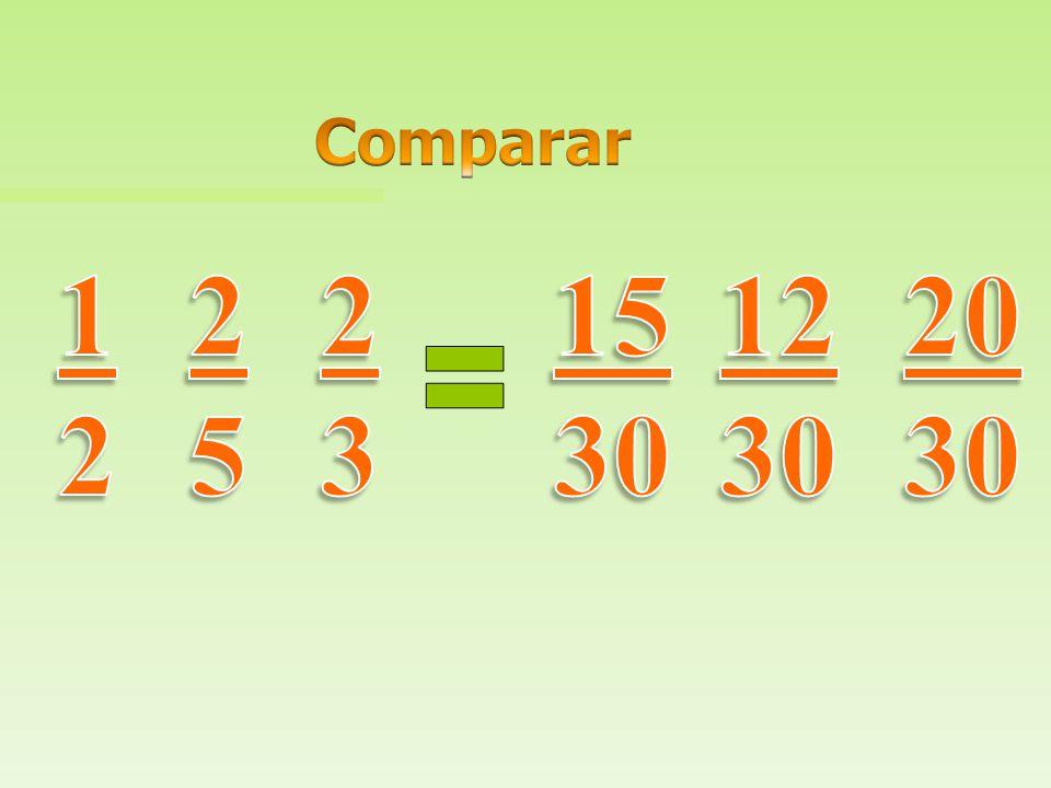 Comparar 1 2 2 5 2 3 15 30 12 30 20 30
