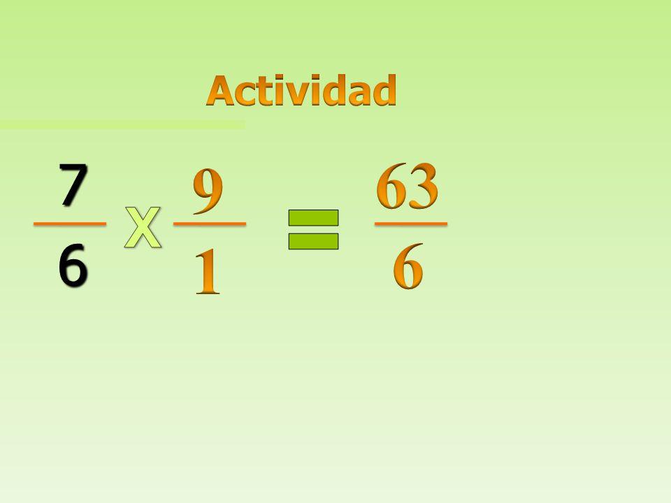 Actividad 63 6 7 6 9 1 X