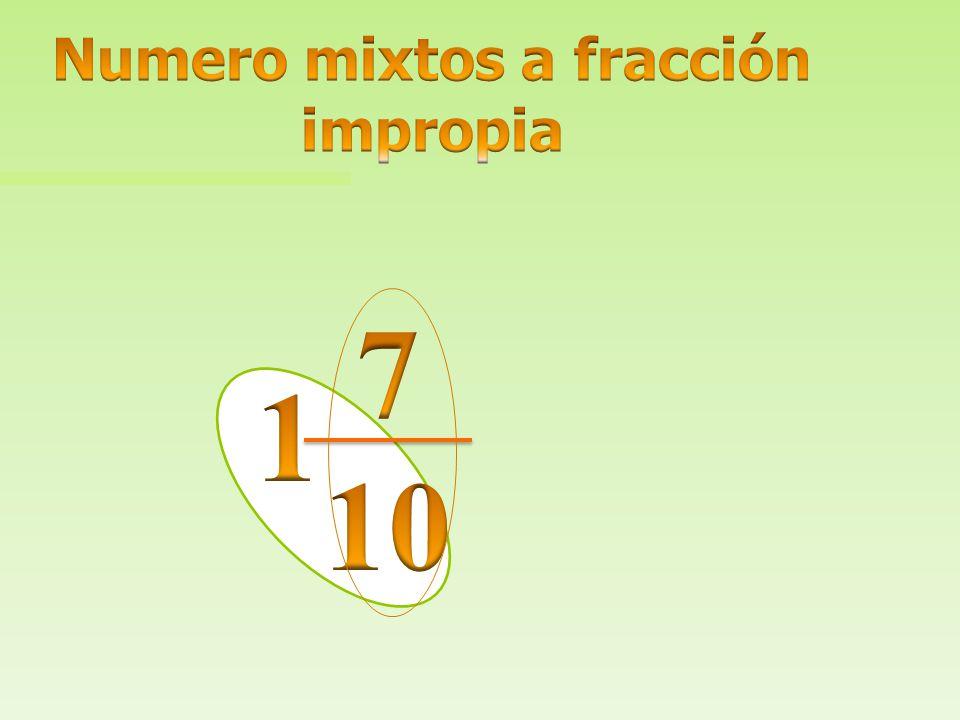 Numero mixtos a fracción impropia