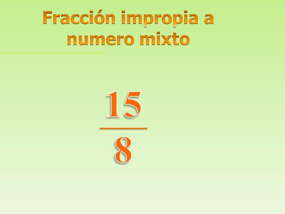 Fracción impropia a numero mixto