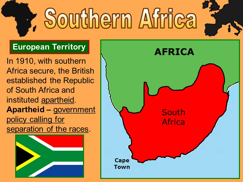 Southern Africa AFRICA European Territory