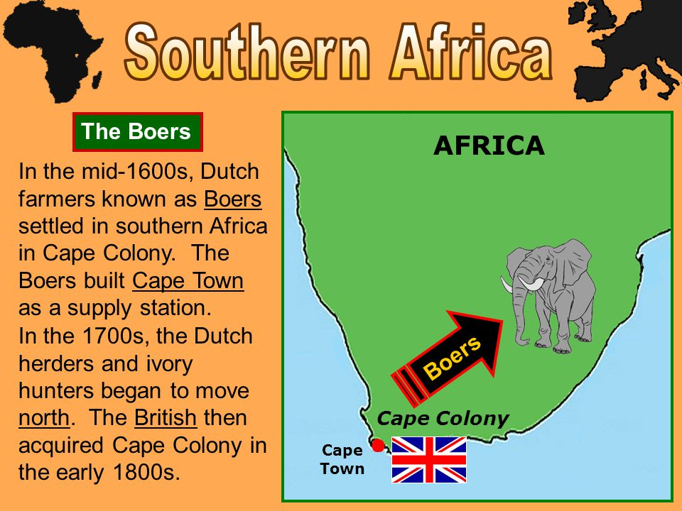 Southern Africa AFRICA The Boers