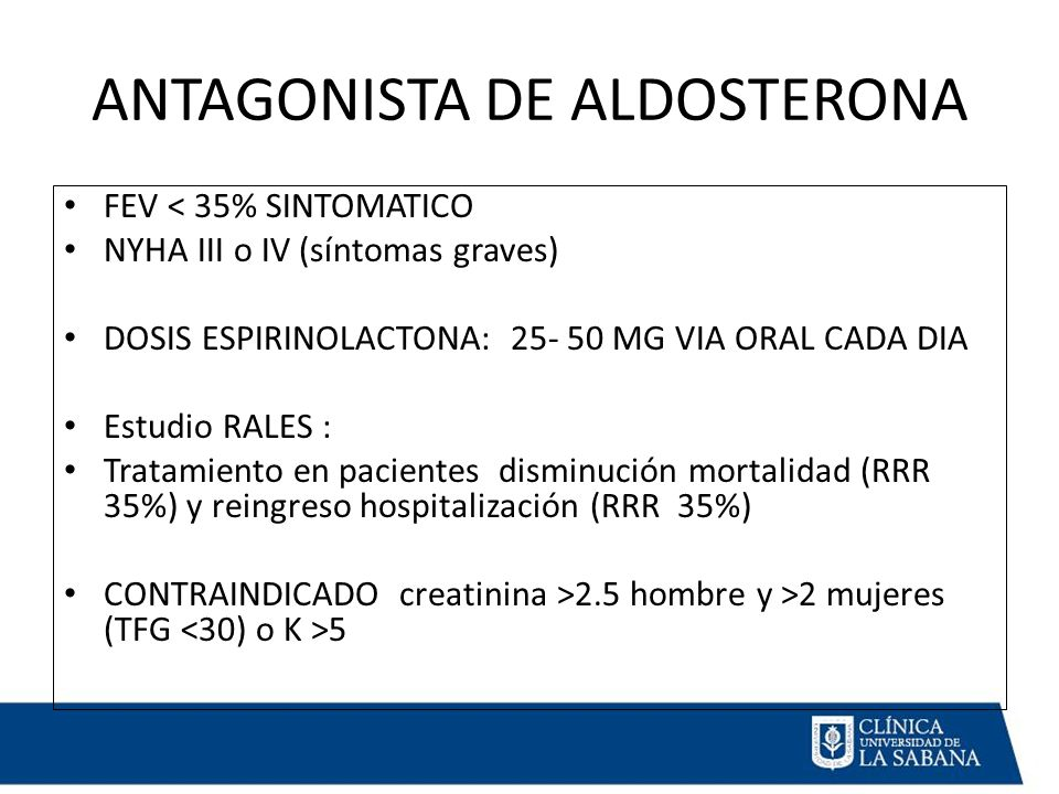 ANTAGONISTA DE ALDOSTERONA