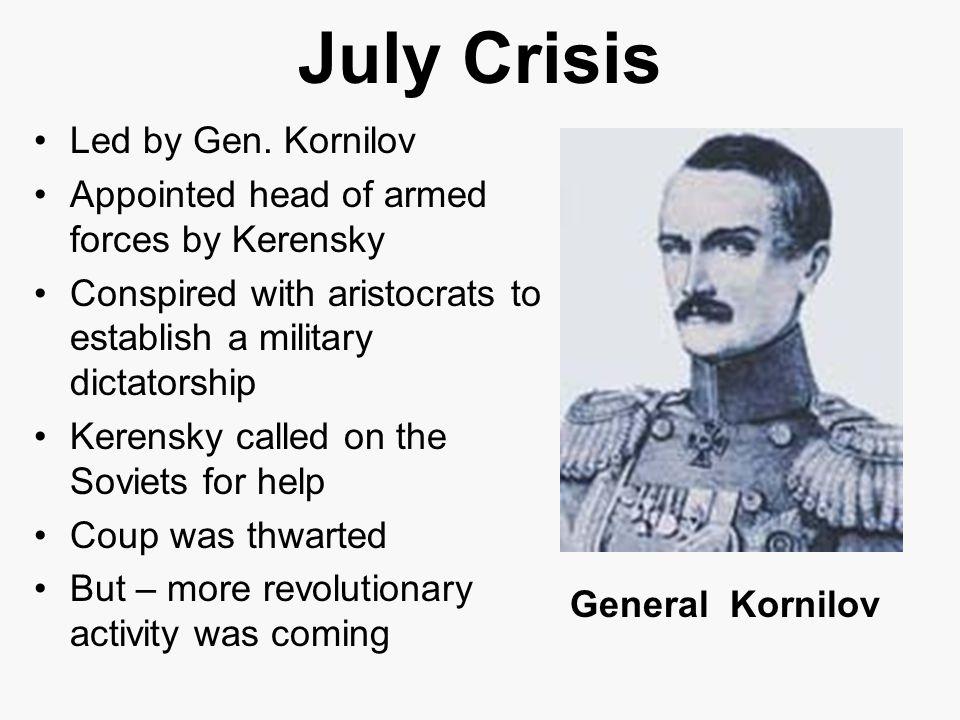 July Crisis Led by Gen. Kornilov