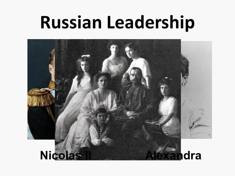 Russian Leadership Nicolas II Alexandra