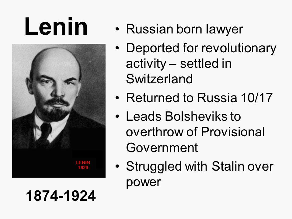Lenin 1874-1924 Russian born lawyer