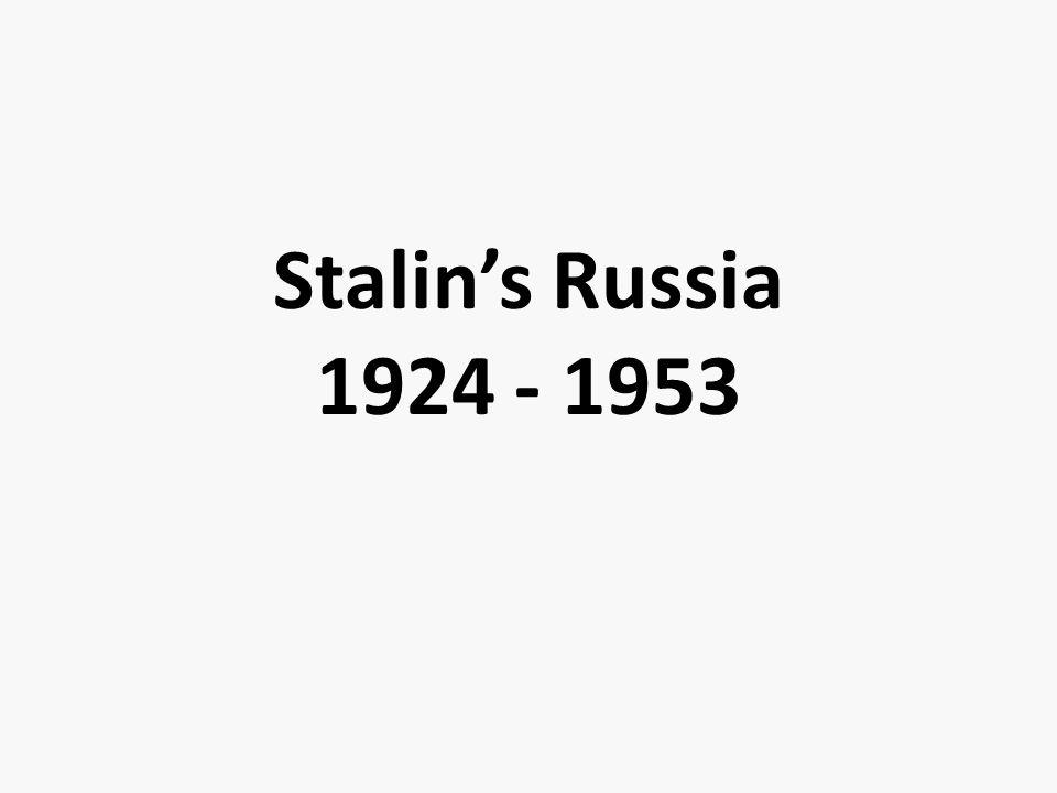 Stalin's Russia 1924 - 1953