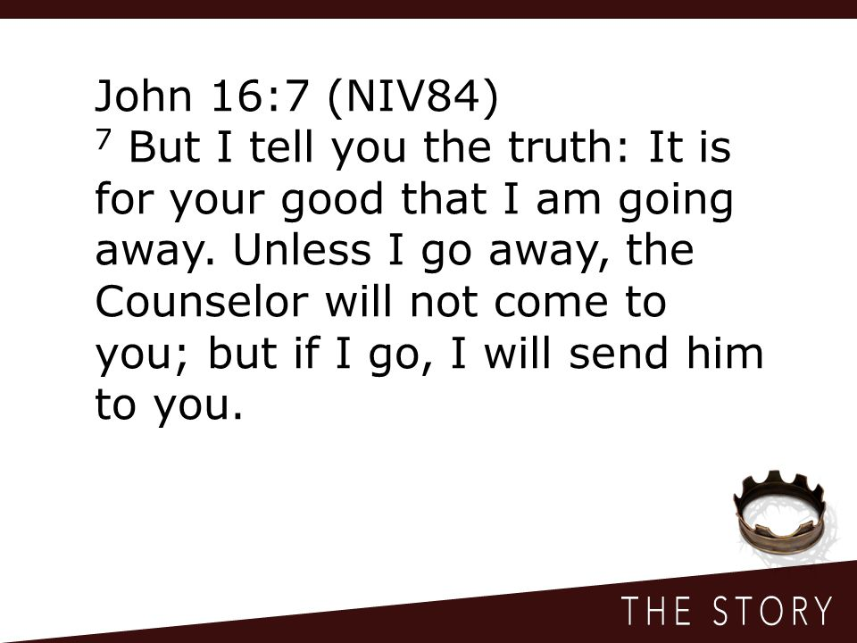 John 16:7 (NIV84)