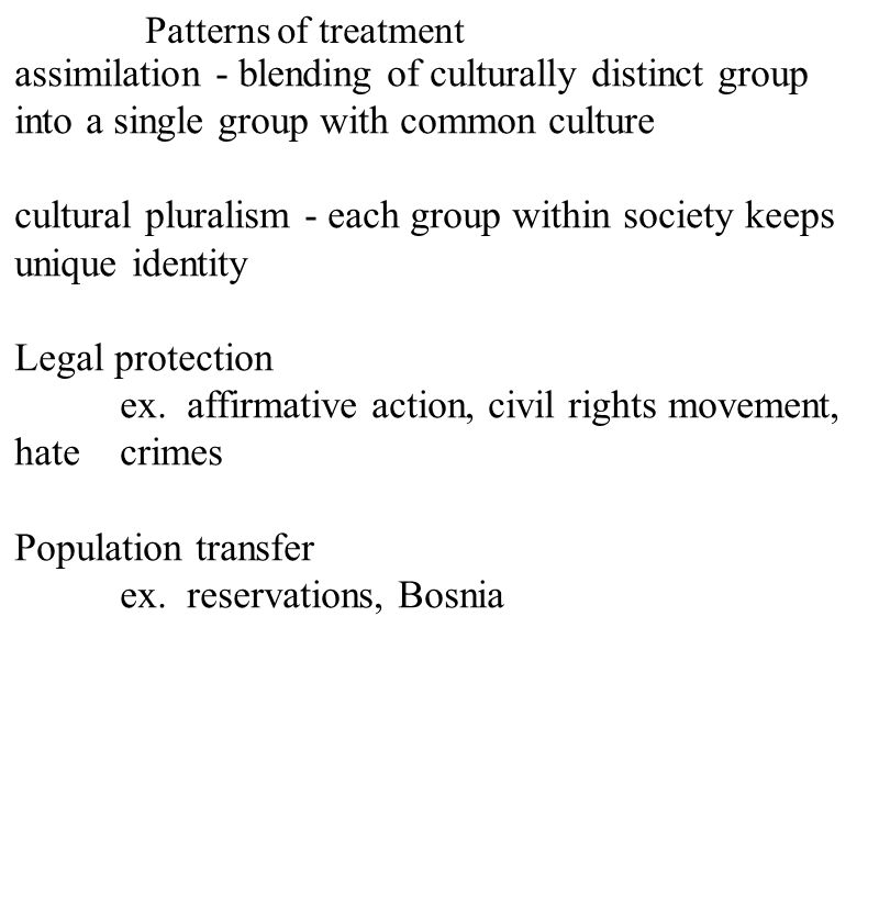 cultural pluralism - each group within society keeps unique identity