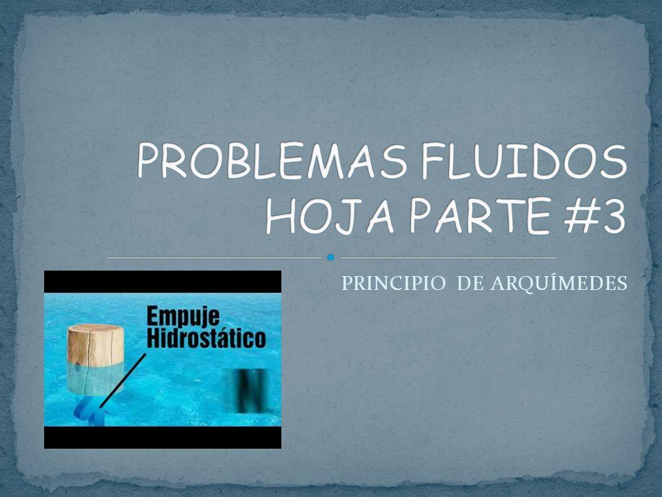 PROBLEMAS FLUIDOS HOJA PARTE #3