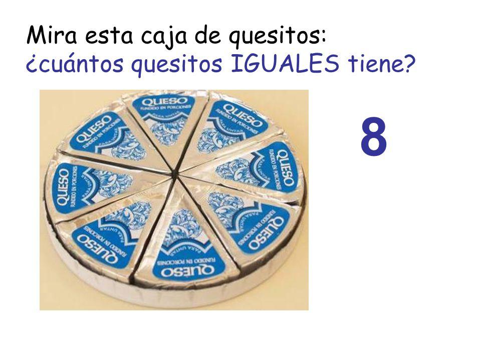 Mira esta caja de quesitos: ¿cuántos quesitos IGUALES tiene