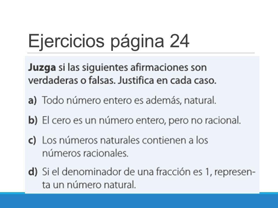 Ejercicios página 24