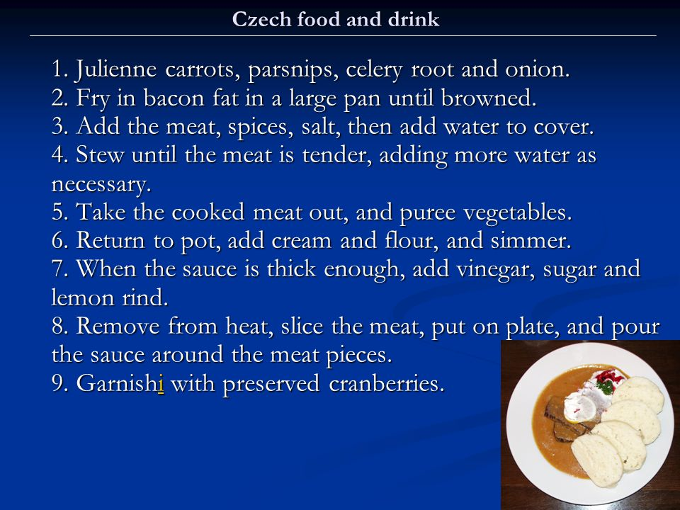 Czech food and drink