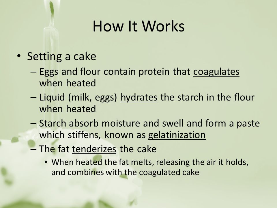 How It Works Setting a cake