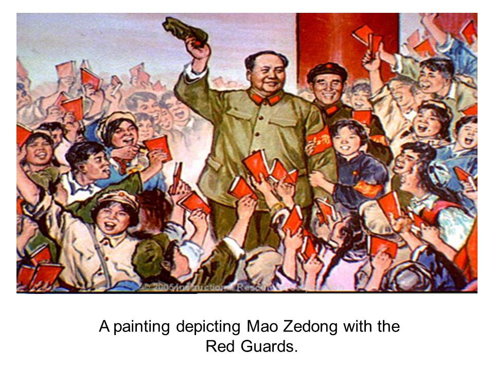 A painting depicting Mao Zedong with the