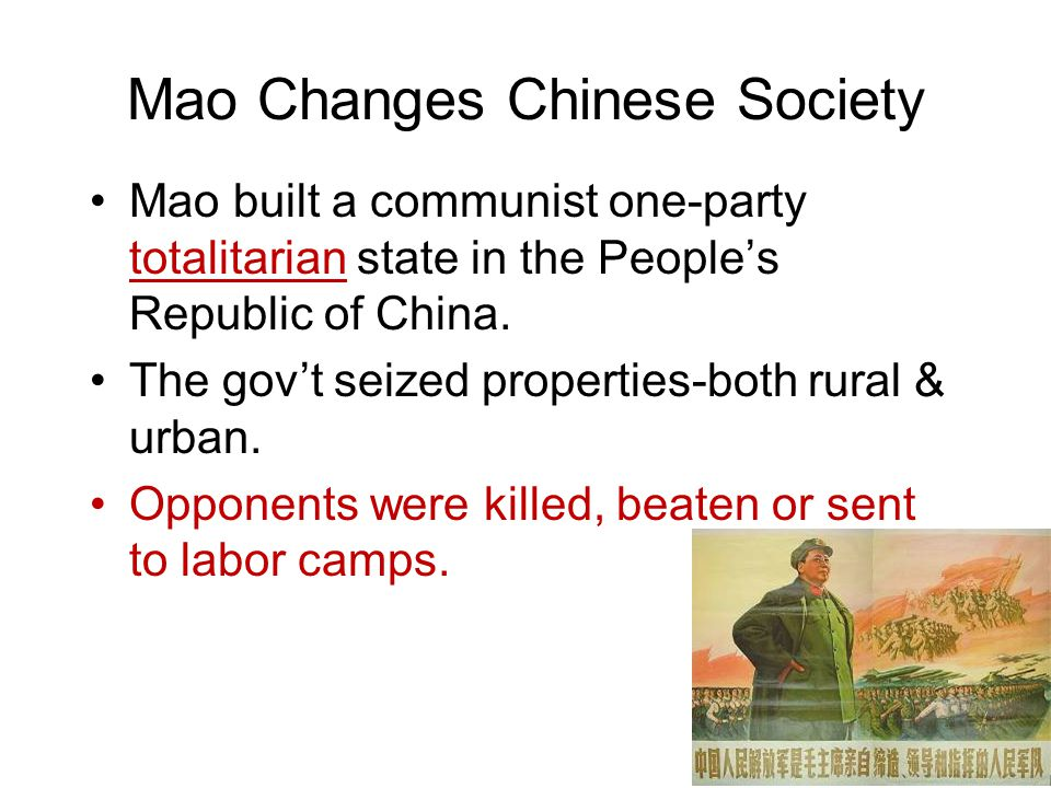Mao Changes Chinese Society