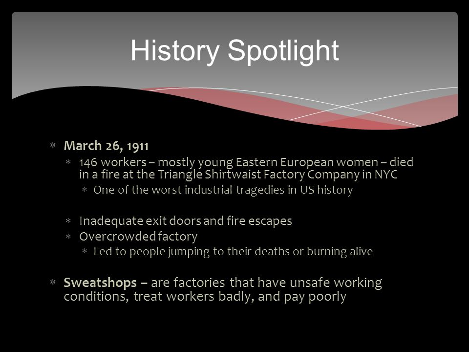 History Spotlight March 26, 1911