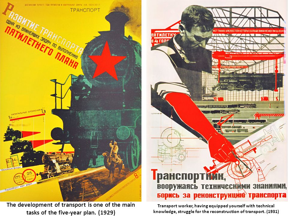 The development of transport is one of the main tasks of the five-year plan. (1929)