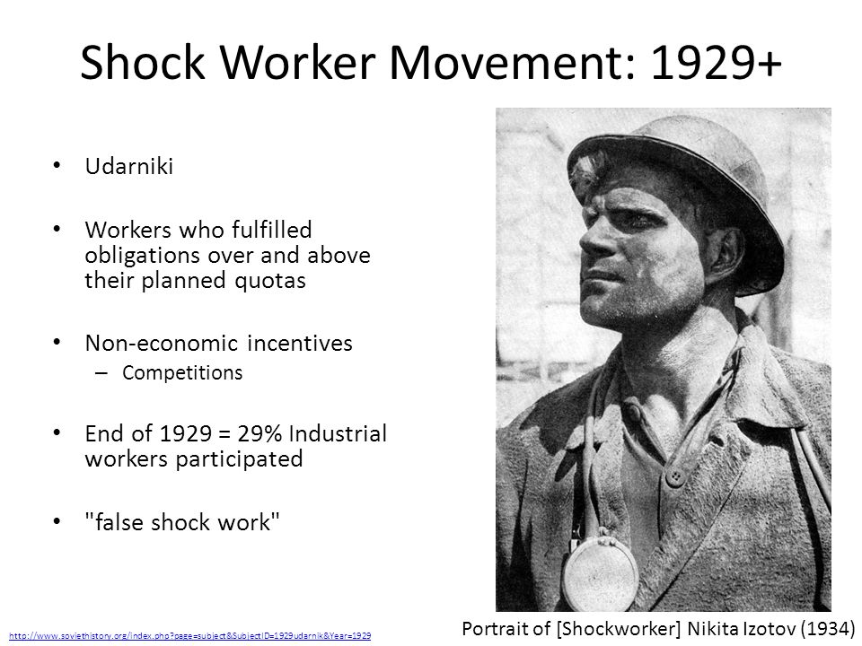 Shock Worker Movement: 1929+