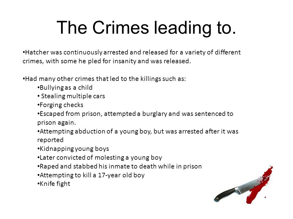 The Crimes leading to.