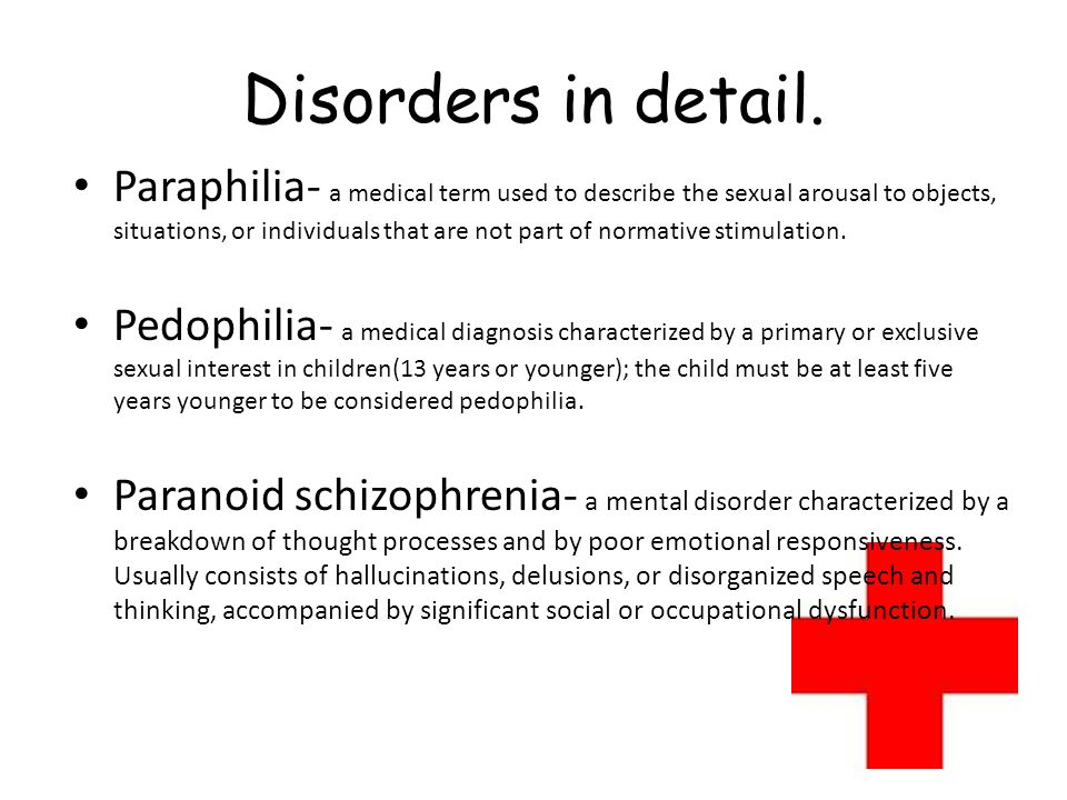 Disorders in detail.