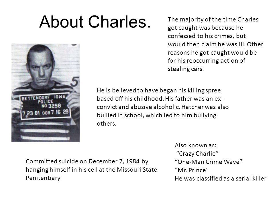 About Charles.
