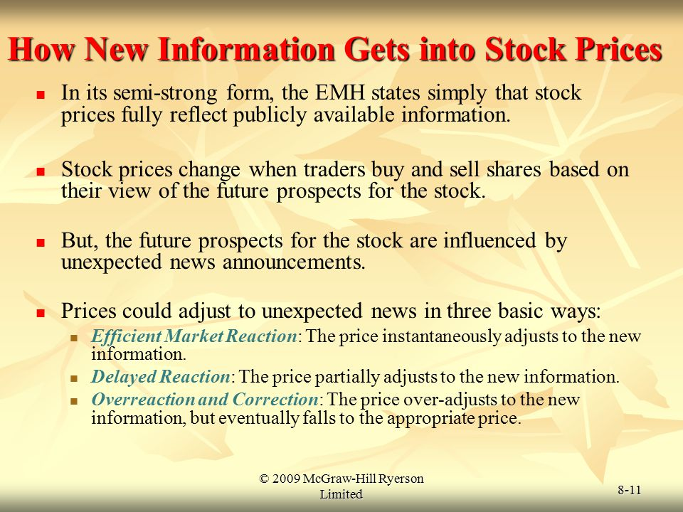 How New Information Gets into Stock Prices