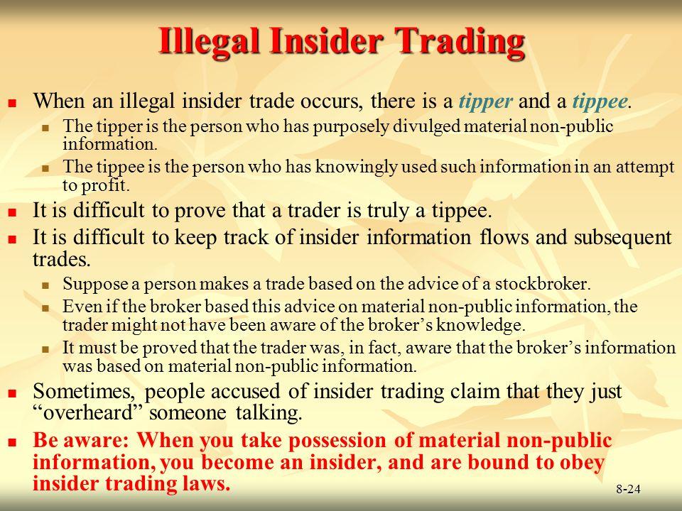 Illegal Insider Trading