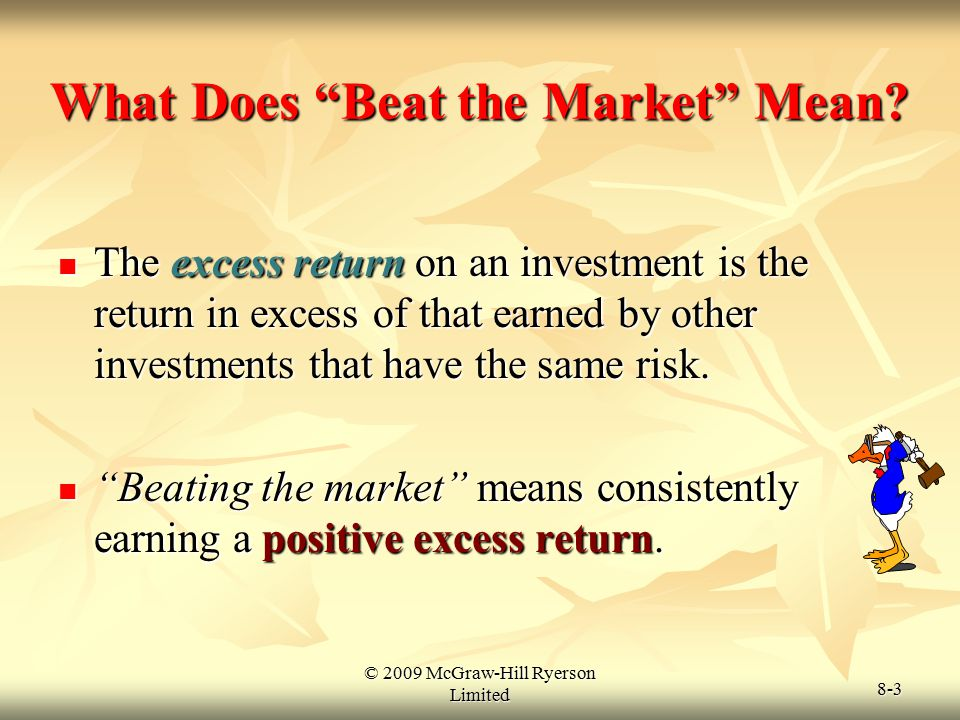 What Does Beat the Market Mean